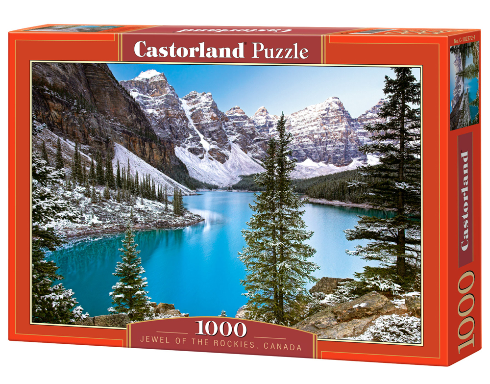 Puzzle Castorland The Jewel of the Rockies, Canada 1000 Dielikov