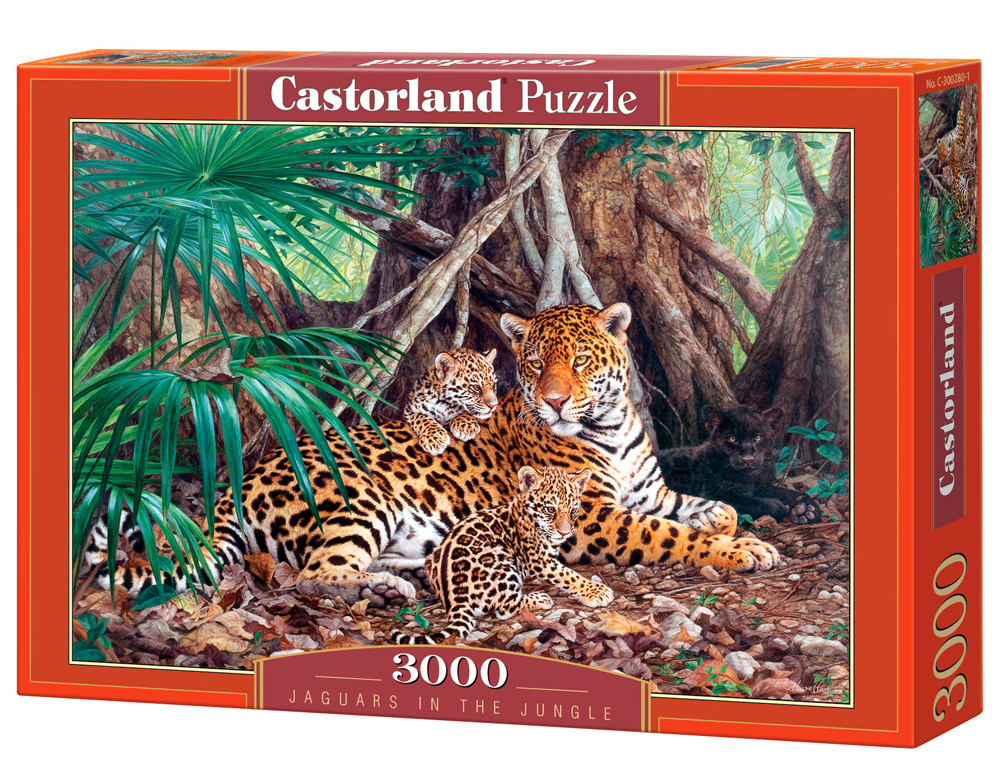 Puzzle Castorland Jaguars in the Jungle 3000 Dielikov