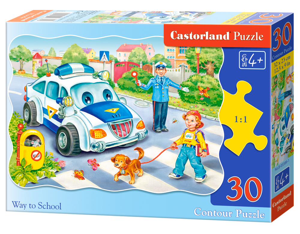 Puzzle Castorland Way to School  30 Dielikov