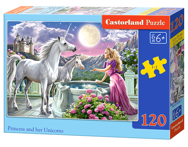 Castorland Puzzle Princes and her Unicorns 120 Dielikov