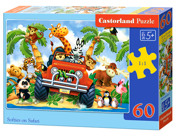 Puzzle Castorland Softies on safari 60 Dielikov