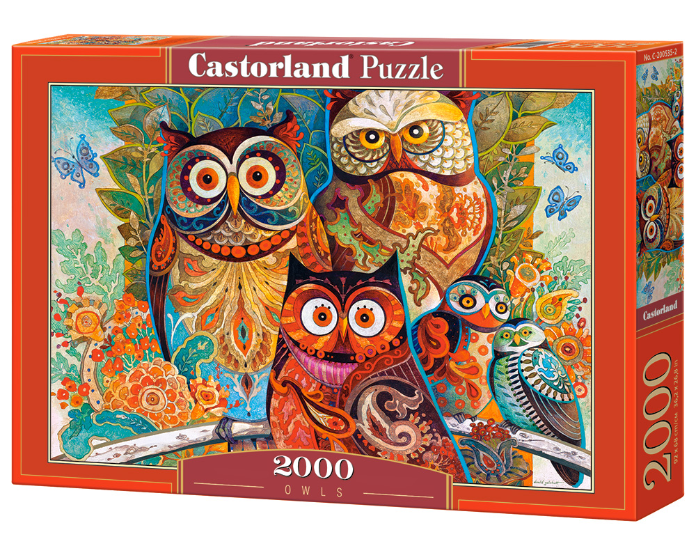 Puzzle Castorland Owls 2000 Dielikov