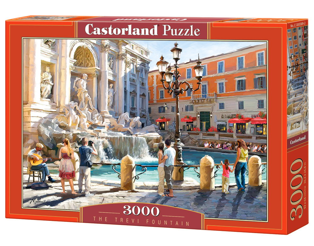 Puzzle Castorland The Trevi Fountain 3000 Dielikov