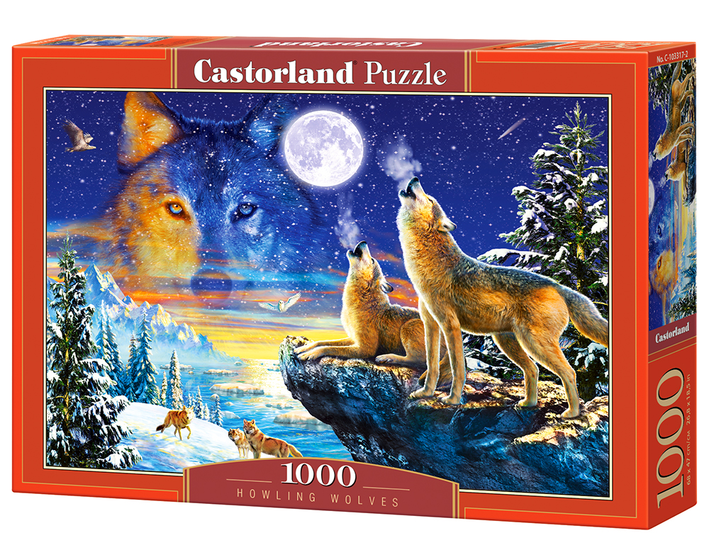 Puzzle Castorland Howling Wolves 1000 Dielikov
