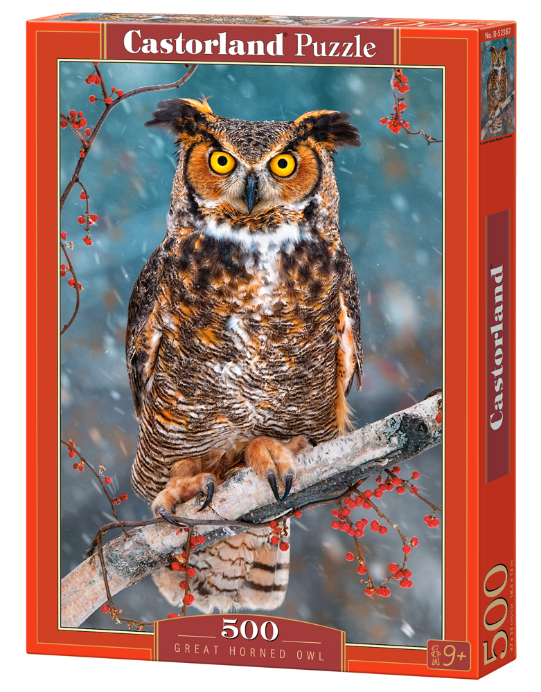 Castorland Puzzle Great Horned Owl 500 Dielikov