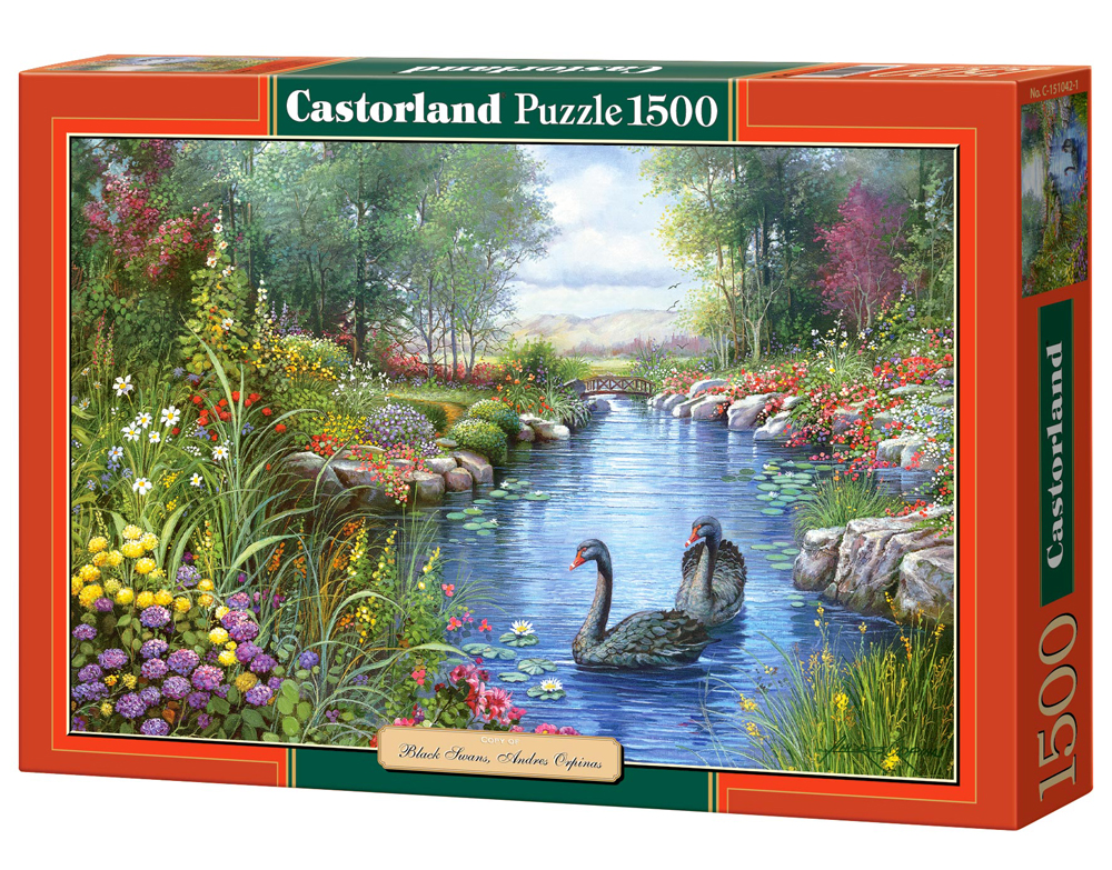 Puzzle Castorland Black Swans, Andres Orpinas  1500 Dielikov
