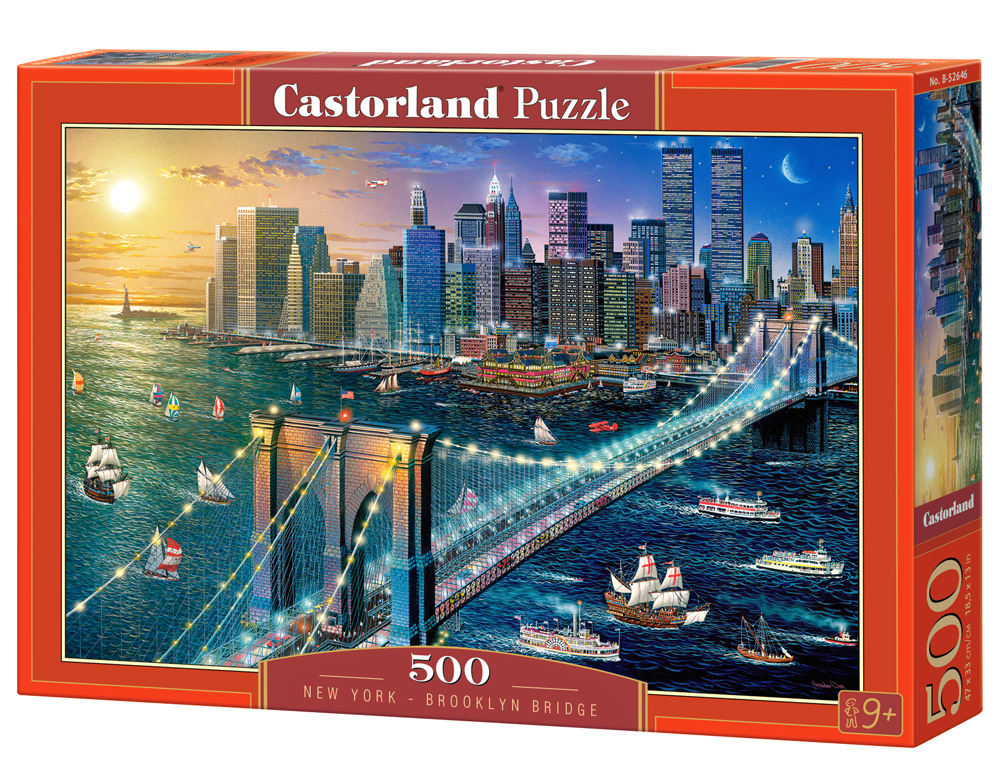 Castorland Puzzle New York Brooklyn Bridge 500 Dielikov