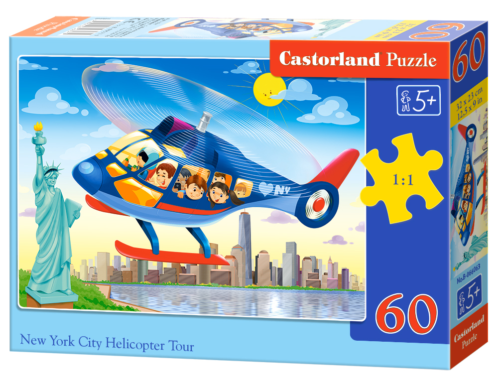 Puzzle Castorland New York City Helicopter Tour 60 Dielikov