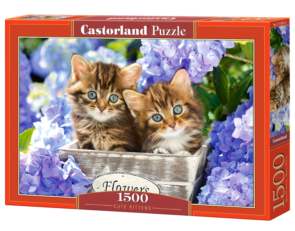 Puzzle Castorland Cute Kittens 1500 Dielikov