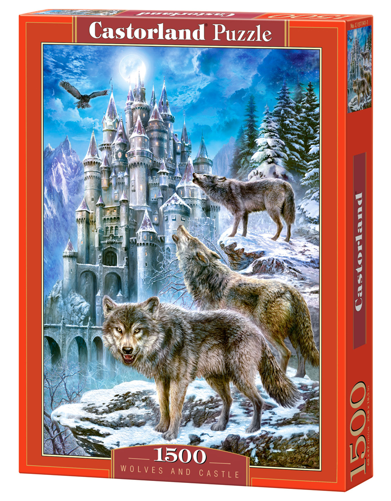 Puzzle Castorland Wolves and Castle 1500 Dielikov