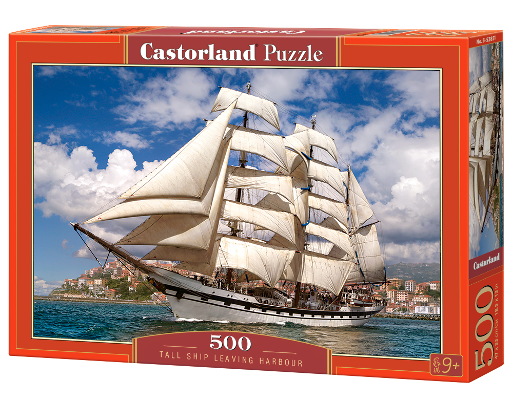 Castorland Puzzle Tall Ship Leaving Harbour 500 Dielikov