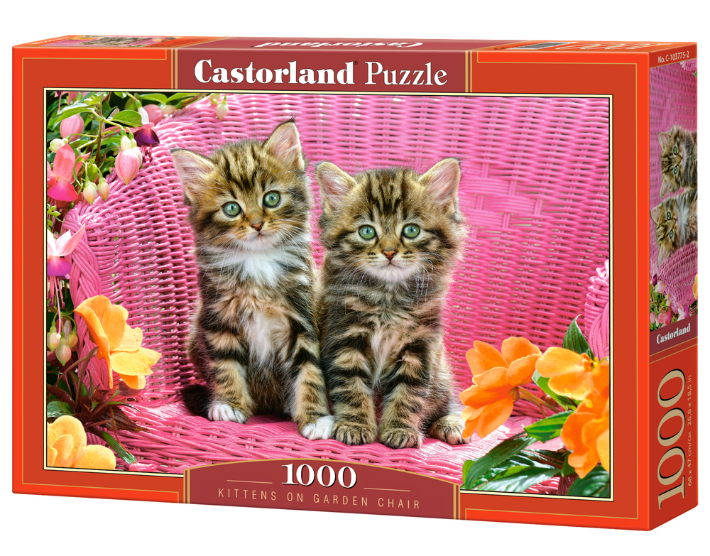 Castorland Puzzle Kittens on Garden Chair 1000 Dielikov